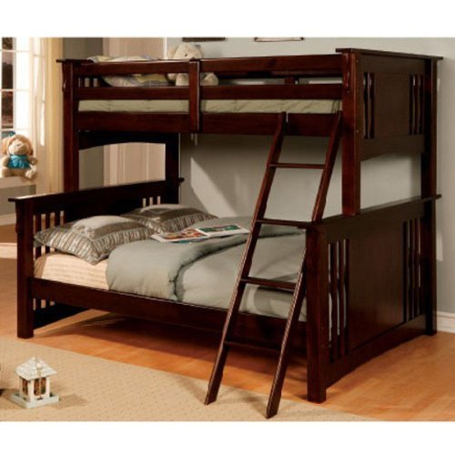 Danbury Expresso Finish Youth Twin / Full Bunk Bed (Full Expresso Bed compare prices)
