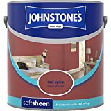 Johnstones No Ordinary Paint Water Based Interior Soft Sheen Emulsion Red Spice 2.5 Litre