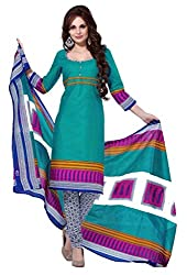 HIFI Ethnicwear Women's Dress Material(HIFI 3202_Green_Free Size)