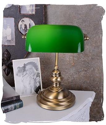 bankerslamp schreibtischlampe banker lampe banker leuchte pultleuchte echter klassiker im. Black Bedroom Furniture Sets. Home Design Ideas