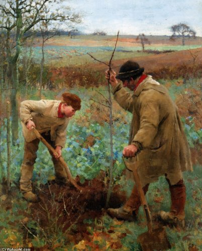 Planting a Tree by Sir George Clausen