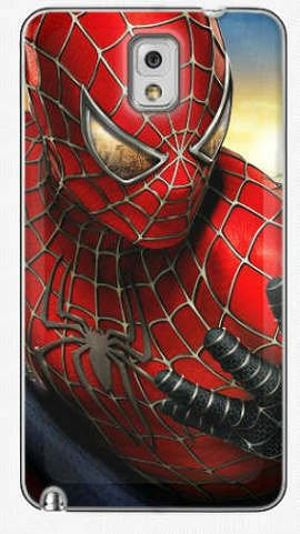 Samsung Galaxy Note 3 Accessories Case Back Cover with Spider-Man Poster Style