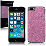 Terrapin Disco Glitter Back Case for iPhone 5S - Pink