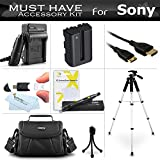 Essential Accessories Kit For Sony Alpha SLT-A58K, SLT-A99V, SLT-A65, SLT-A77, SLT-A57, a58 DSLR Camera Includes Replacement NP-FM500H Battery + Charger + Mini HDMI Cable + Case + 57 Tripod + More
