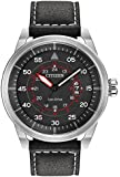 Citizen Men's Avion Quartz Watch with Analogue Display and Leather Strap