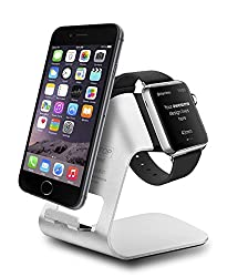 Esinkin Apple Iphone Watch Charging Stand (Silver)