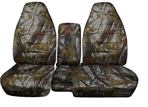 1998 to 2003 Ford Ranger 60/40 Truck Seat Covers Real Tree Camouflage. Console Cover with Cupholder Opening Included (Real Tree Truck Seat Covers compare prices)