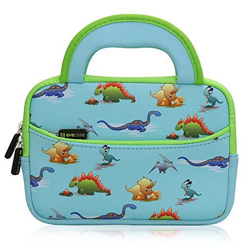 Best Review Of Evecase Cute Dinosaurs Themed Neoprene Carrying Sleeve Case Bag For 7 - 8 inch Kid Ta...