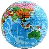 Dpower World Map Foam Earth Globe Stress Relief Bouncy Ball Atlas Geography Toy