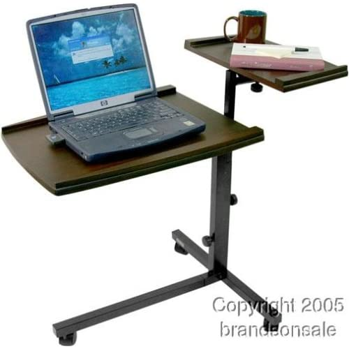 Overbed Table With Drawer Rolling Hospital Style Bedside Tray Table