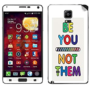 Theskinmantra Be Not Them Samsung Galaxy Note 4 mobile skin