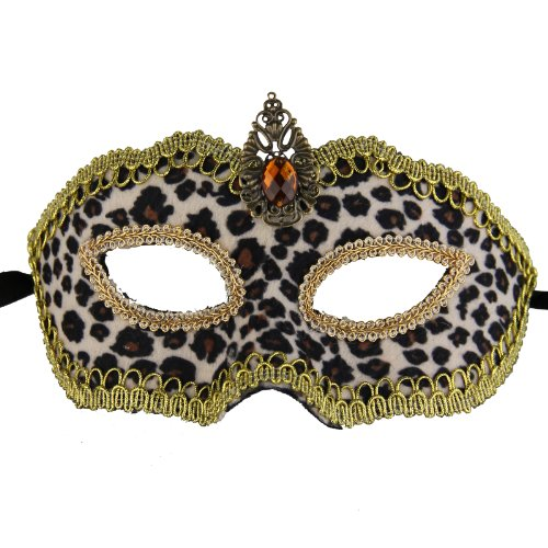 NATI Unisex Velvet Masquerade Mask Color Brown