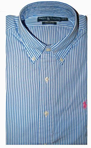 Ralph Lauren Casual Shirt 7931546 Blue Stripe (X Large)