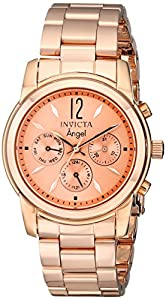 Invicta Women's 12509 Angel Rose Dial 18k Rose Gold Ion-Plated Watch