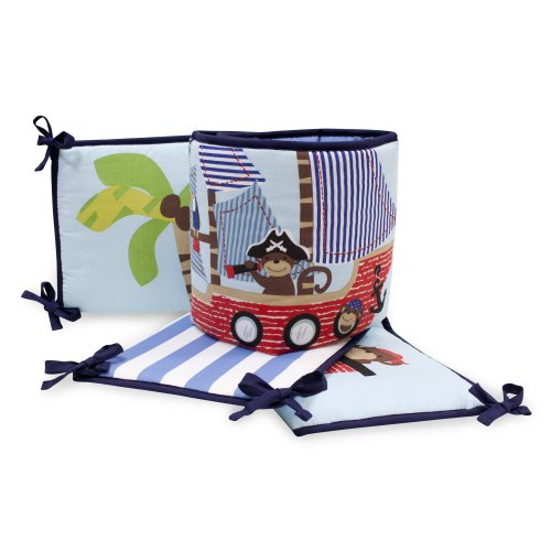 Bedtime Originals 4 Piece Bumper, Treasure Island