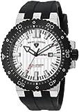 Swiss Legend Men's 10126-02S-BB Challenger White Textured Dial Black Silicone Watch