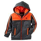 OshKosh B'gosh Big Boys' Colorblock Track Jacket - Grey/Orange - 8 Youth