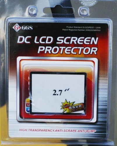 Ggs Optical Glass Lcd Screen Protector 2.7 Inches For Digital Cameras Canon, Nikon, Pentax Sony Olympus
