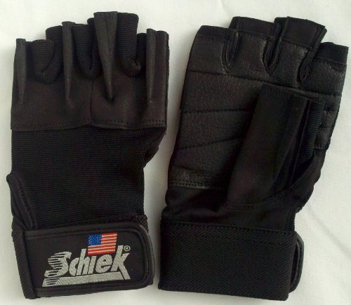 Schiek Model 520 Women's Weight Lifting Gloves with Velcro Wrist Closure - Black - XS