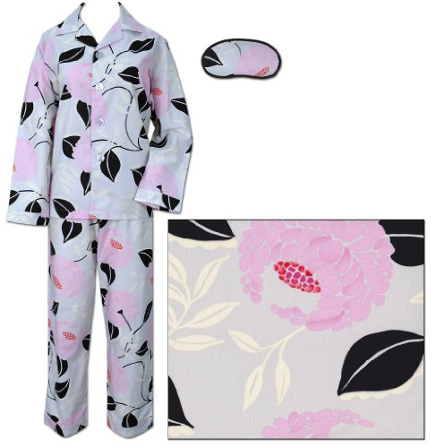 The Cat's Pajamas Women's Evening Blooms Floral Cotton Pajama Medium