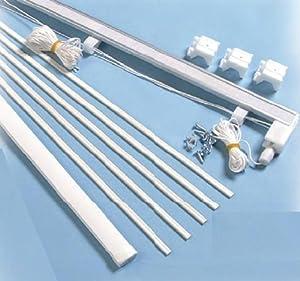 Roman Blind Kit 180cm High Quality Metal Headrail With