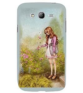 Printvisa Girl In A Garden Back Case Cover for Samsung Galaxy Grand 2 G7102::Samsung Galaxy Grand 2 G7106