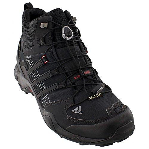 adidas Outdoor Terrex Swift R Mid GTX Hiking Boot - Men's Black/Vista Grey/Power Red 11