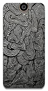 The Racoon Lean printed designer hard back mobile phone case cover for HTC One E9 Plus. (psychedeli)