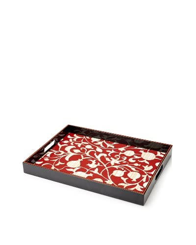 rockflowerpaper Quince Red Rectangular Tray As You See