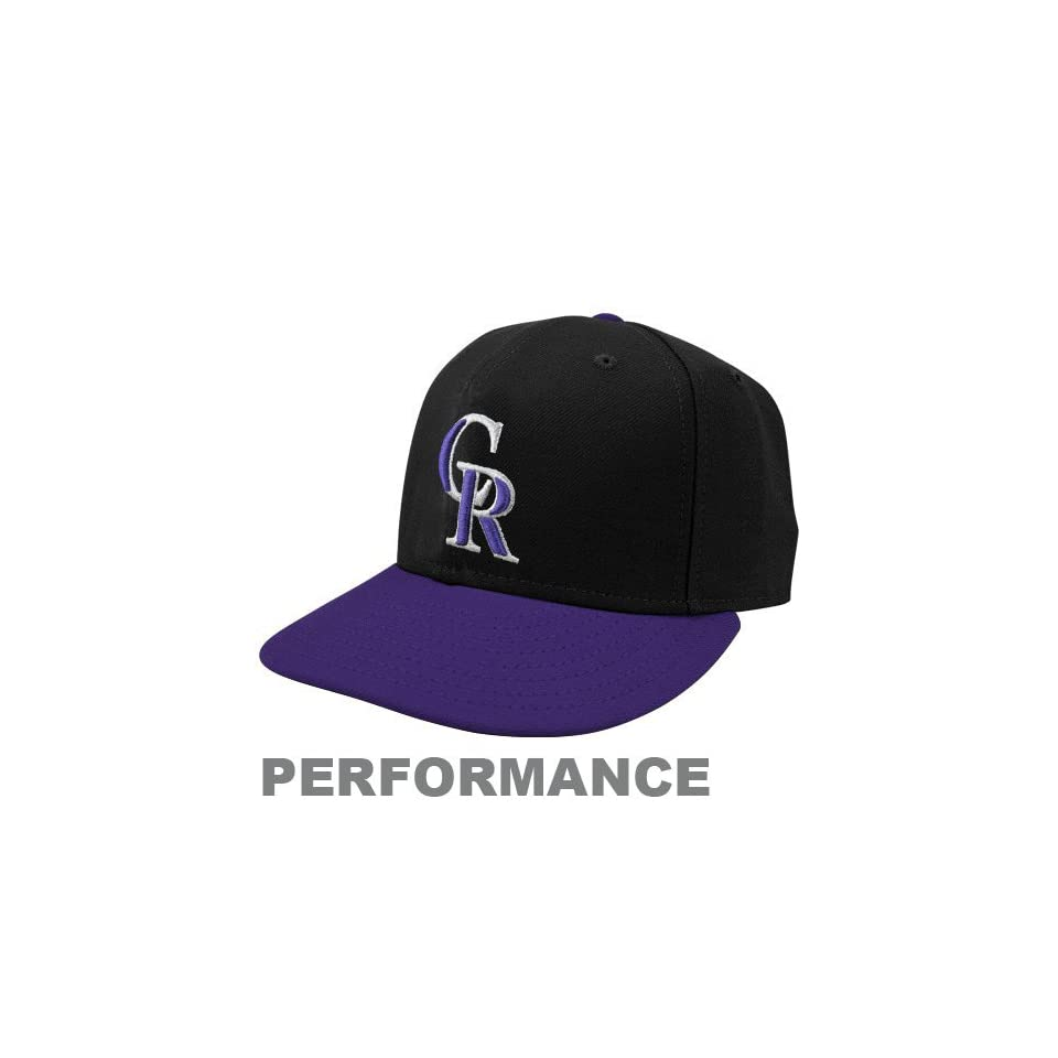 quality design 858c8 6eb85 New Era Colorado Rockies On Field Performance 59FIFTY Fitted Hat Black  Purple
