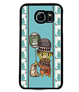 PRINTVISA Bus Stop Premium Metallic Insert Back Case Cover for Samsung Galaxy S6 Edge - D5977