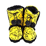 Oficial-esponjoso-Pokemon-Pikachu-amarillo-arranque-Pull-damas-adolescentes-zapatillas