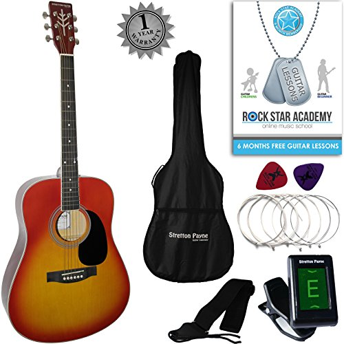 stretton-payne-dreadnought-full-sized-steel-string-acoustic-guitar-package-d1-cherry-burst