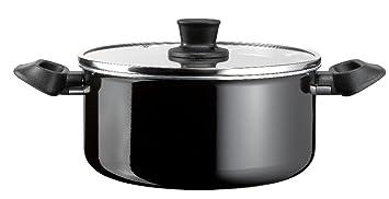 7 L Noir Autocuiseur Acier Inoxydable Casserole induction Base