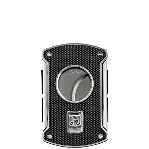 Colibri Slice Cutter Silver Carbon Fiber Polished Chrome Lighter - Colibri KNF000711