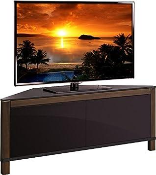 Mda designs volans meuble tv d 39 angle en verre et bois de - Meuble tv d angle noir ...