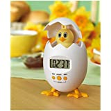 Kitchen Fun Novelty Egg Shaped Timer Cute Chicken Hen Chick Digital Countdown