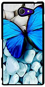 PrintVisa Animal Butterfly Case Cover for Sony Xperia M2 (2D-SXPM2-D8167)