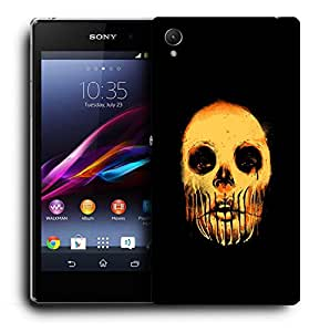 Snoogg Scary Face Designer Protective Back Case Cover For SONY XPERIA Z1 L39H