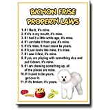 Bichon Frise Property Laws Fridge Magnet Funny