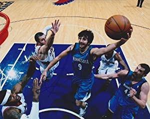Ricky Rubio Autographed  Hand Signed Minnesota Timberwolves 8x10 Photo by Real Deal Memorabilia