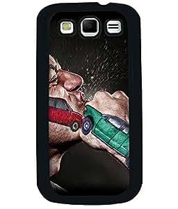 PRINTVISA Premium Metallic Insert Back Case Cover for Samsung Galaxy Grand Quattro - I8552 - D5943