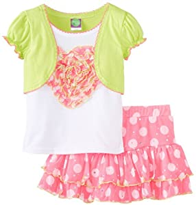 Dollie & Me Girls 2-6X 2-Piece Skirt Set with Attached Shrug from Dollie & Me