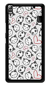 """Humor Gang Cute Kitty Cats In Love Printed Designer Mobile Back Cover For """"Lenovo A7000 - Lenovo A7000 Plus - Lenovo A7000 Turbo - Lenovo k3 note"""" (3D, Glossy, Premium Quality Snap On Case)"""