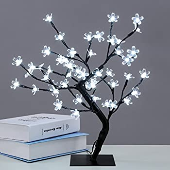 Excelvan Cherry Blossom Desk Top Bonsai Tree 