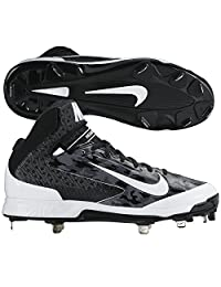 Nike Mens Camo Air Huarache Pro MId Camo Metal Cleats 10 1/2 US Black/White