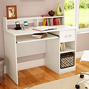 White Study Table : ... .com: South Shore Study Table Desk Furniture, White: Toys & Games