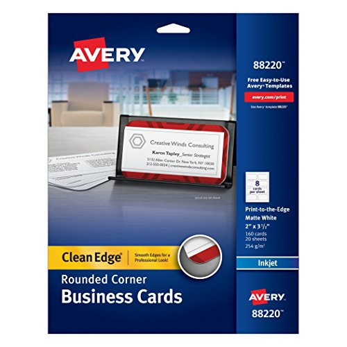 Avery Two Side Printable Clean Edge Rounded Corner