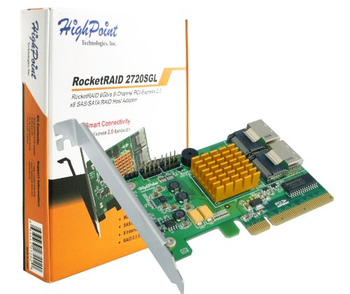 HighPoint RocketRAID 2720SGL 8-Port PCI-Express 2.0 x8 SAS/SATA 6Gb/s RAID Controller with RAID 6 Support Black Friday & Cyber Monday 2014