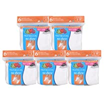 Fruit of the Loom Women's No-Show Sock 30-Pair Pack
